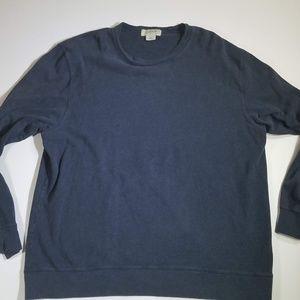J Crew Mens Thick Sweater Dark Grey Xl EUC